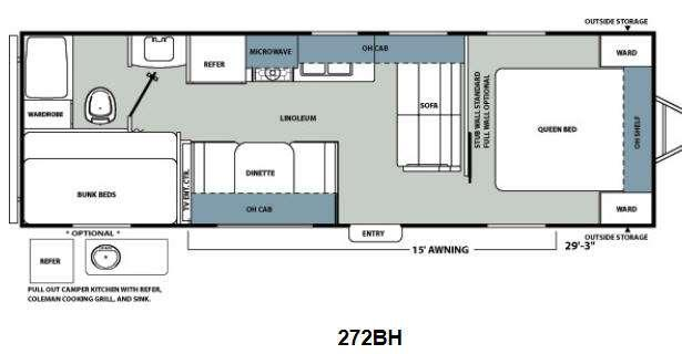 Floorplan - 2013 Coachmen RV Catalina Santara Series 272BH