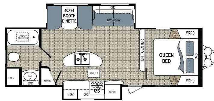 Floorplan - 2013 Dutchmen RV Kodiak 279RBSL