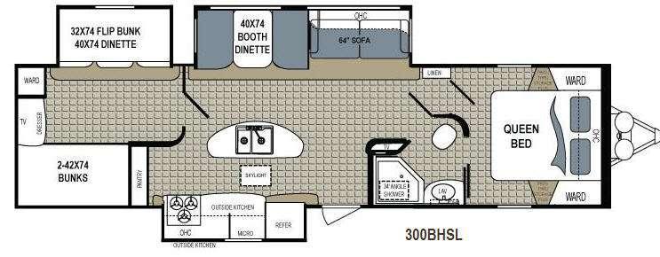 Floorplan - 2013 Dutchmen RV Kodiak 300BHSL