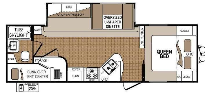 Floorplan - 2013 Dutchmen RV Denali 261BH