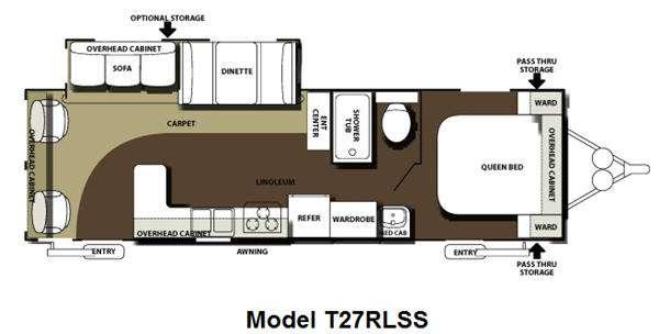 Floorplan - 2013 Forest River RV Salem Hemisphere 27RLSS