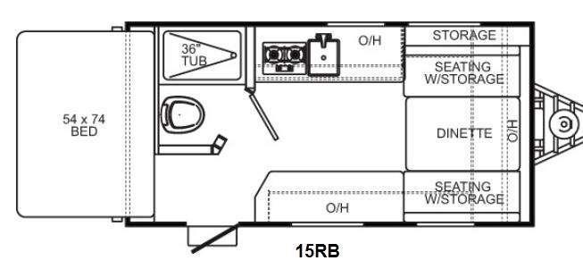 Floorplan - 2012 Coachmen RV Clipper Ultra-Lite 15RB
