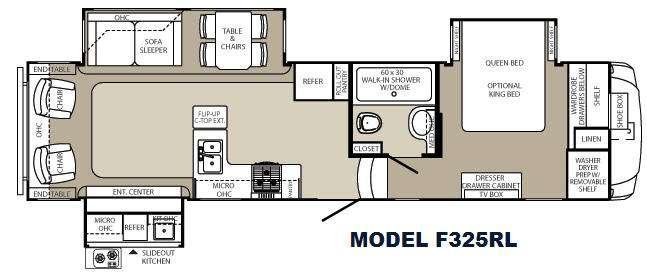Floorplan - 2013 Palomino Columbus F325RL