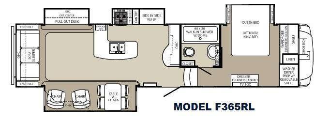 Floorplan - 2013 Palomino Columbus F365RL