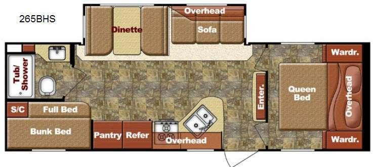 Floorplan - 2013 Gulf Stream RV Kingsport 265 BHS