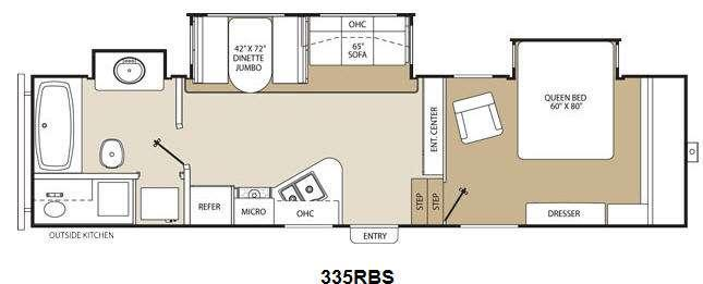 Floorplan - 2013 Coachmen RV Chaparral 335RBS