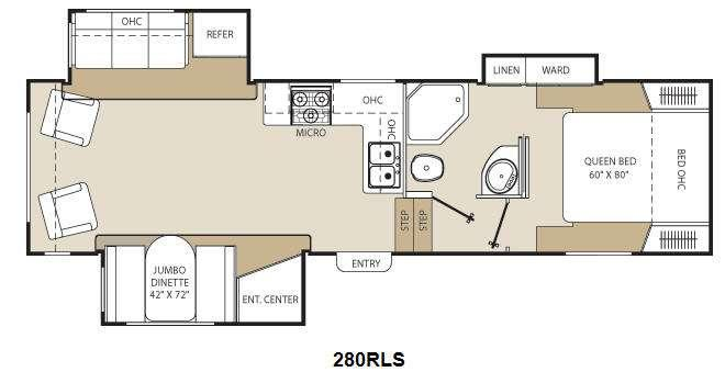 Floorplan - 2013 Coachmen RV Chaparral Lite 280RLS