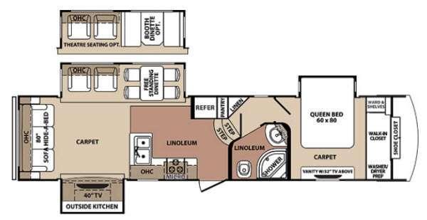 Floorplan - 2013 Forest River RV Blue Ridge 3125RT