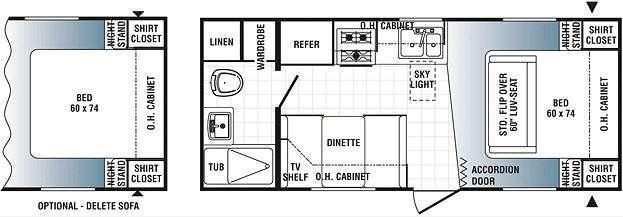 Floorplan - 2013 Palomino Puma 20-QB