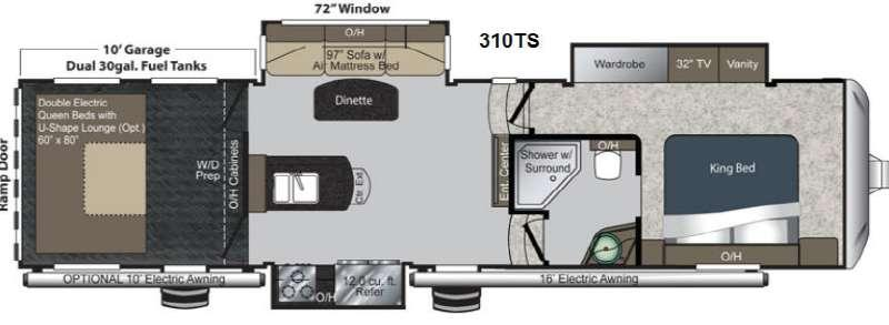 Floorplan - 2013 Keystone RV Raptor 310TS