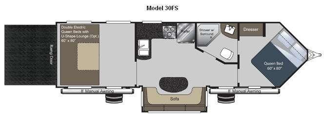 Floorplan - 2013 Keystone RV Raptor 30FS