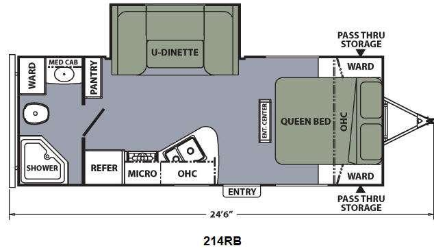 Floorplan - 2013 Coachmen RV Apex Ultra-Lite 214RB