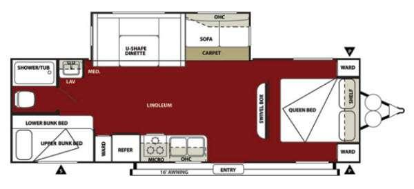 Floorplan - 2013 Forest River RV Wildwood 28DBUD