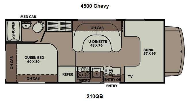 Floorplan - 2012 Coachmen RV Leprechaun 210QB Chevy 4500