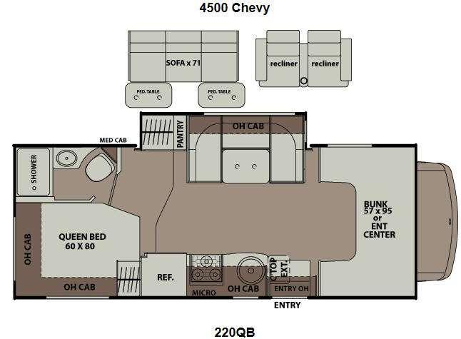 Floorplan - 2013 Coachmen RV Leprechaun 220QB Chevy 4500