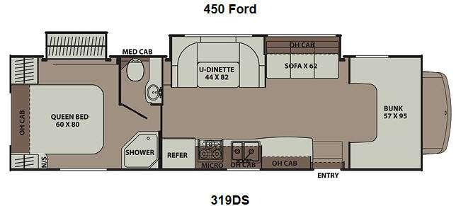 Image result for 2013 coachmen leprechaun 319ds floor plan