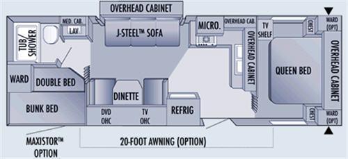 Floorplan - 2006 Jayco Jay Flight 29BHS
