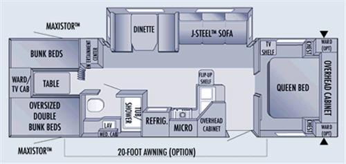 Floorplan - 2006 Jayco Jay Flight 31BHS
