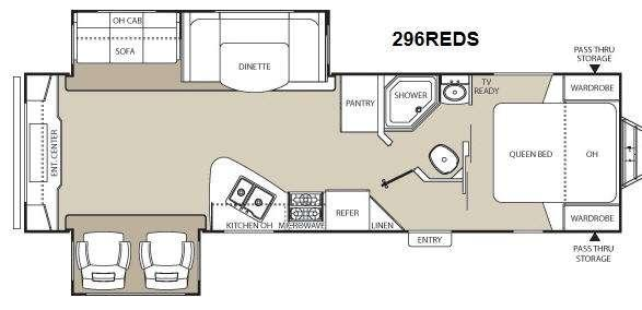 Floorplan - 2013 Coachmen RV Freedom Express 296REDS