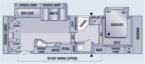 Floorplan - 2006 Jayco Eagle 301RLS