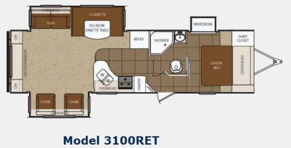 Floorplan - 2013 Prime Time Manufacturing Tracer 3100RET