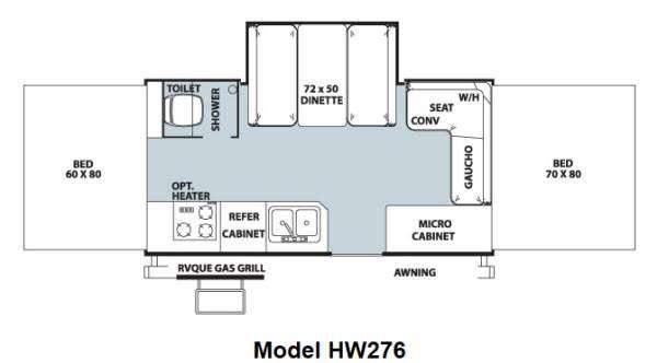 Floorplan - 2013 Forest River RV Rockwood High Wall Series HW276