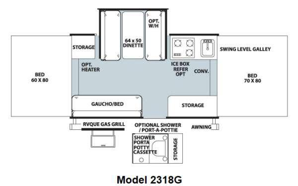 Floorplan - 2013 Forest River RV Rockwood Freedom Series 2318G