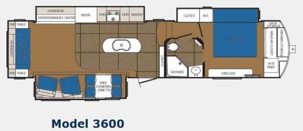 Floorplan - 2013 Prime Time Manufacturing Sanibel 3600