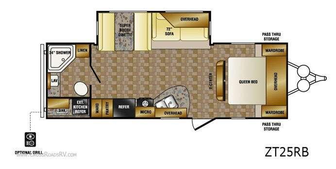 Floorplan - 2013 CrossRoads RV Zinger ZT25RB