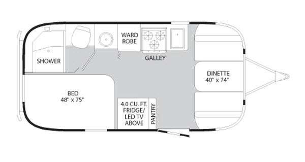 Floorplan - 2013 Airstream RV Flying Cloud 19
