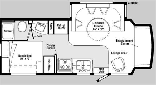 Floorplan - 2006 Winnebago Aspect 26A