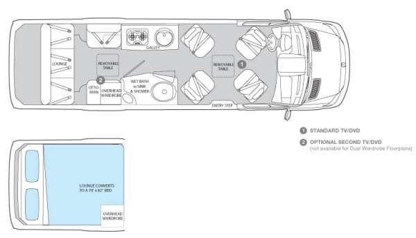 Floorplan - 2013 Airstream RV Interstate Lounge Extended