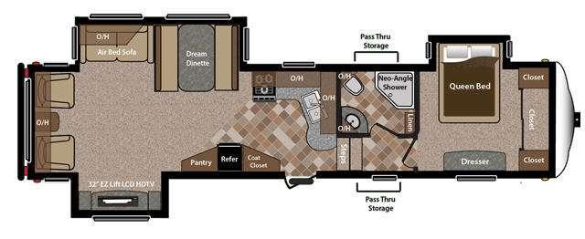 Floorplan - 2013 Keystone RV Sprinter Copper Canyon 314FWRLS