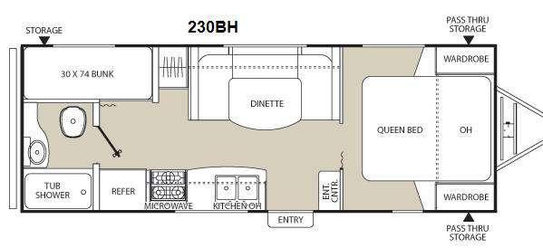 Floorplan - 2013 Coachmen RV Freedom Express LTZ 230BH