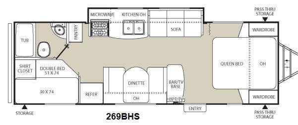 Floorplan - 2013 Coachmen RV Freedom Express LTZ 269BHS