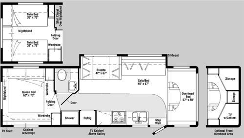 Floorplan - 2006 Winnebago Outlook 31C