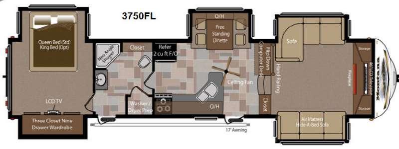 Floorplan - 2013 Keystone RV Montana 3750 FL