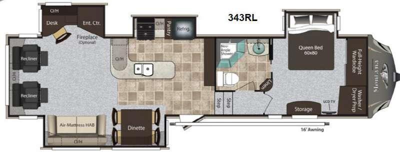 Floorplan - 2013 Keystone RV Montana High Country 343RL