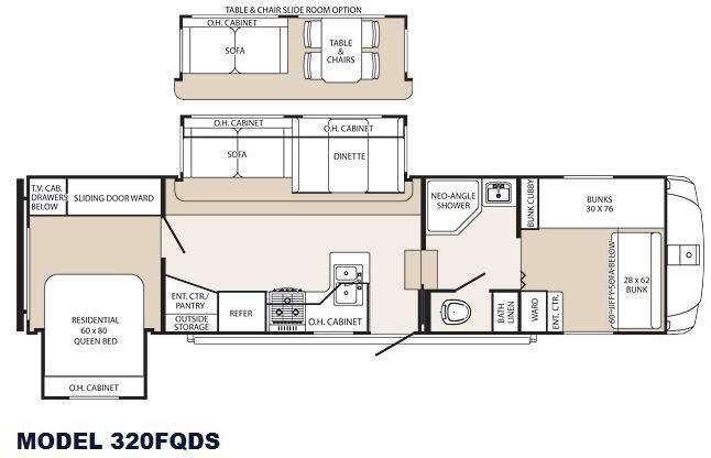 Floorplan - 2013 Palomino Sabre Silhouette 320FQDS