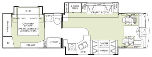 Floorplan - 2006 Fleetwood RV Discovery 35H