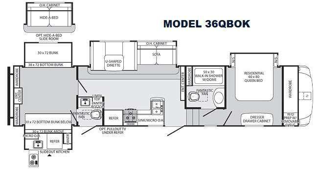 Floorplan - 2013 Palomino Sabre 36QBOK