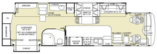 Floorplan - 2006 Fleetwood RV Discovery 39V