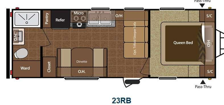 Floorplan - 2013 Keystone RV Hideout 23RB