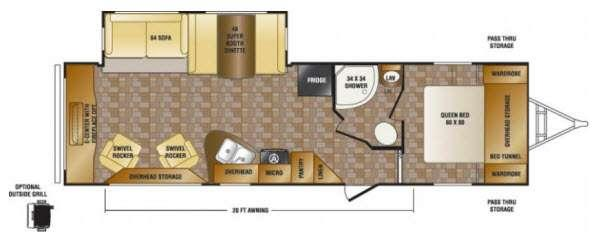 Floorplan - 2013 CrossRoads RV Hill Country HCT30RE