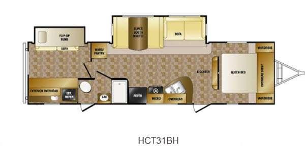 Floorplan - 2013 CrossRoads RV Hill Country HCT31BH