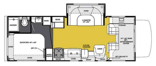 Floorplan - 2013 Forest River RV Sunseeker 2450S Ford