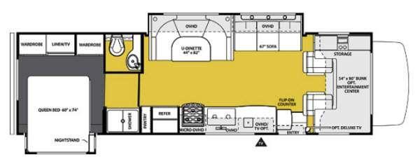 Floorplan - 2013 Forest River RV Sunseeker 3010DS Ford