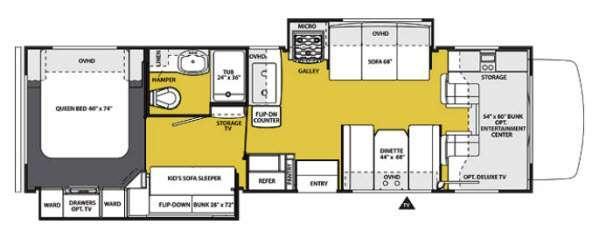 Floorplan - 2013 Forest River RV Sunseeker 3170DS Ford