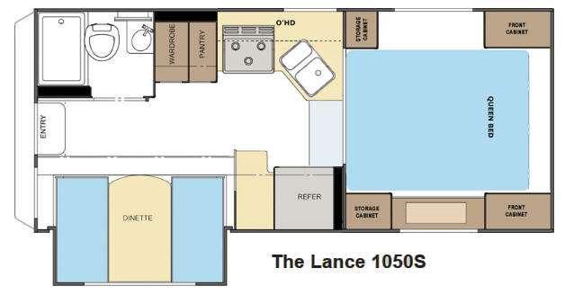 Floorplan - 2013 Lance 1050S