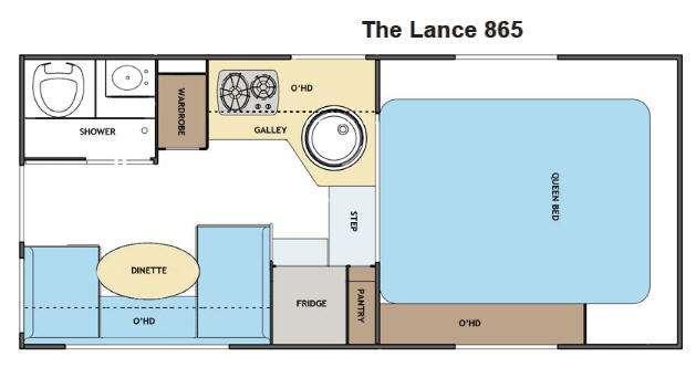 Floorplan - 2013 Lance 865